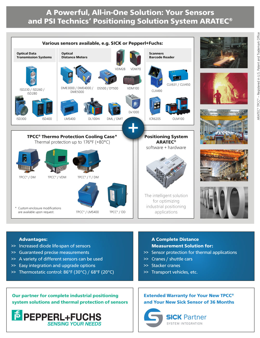 A powerful, all-in-one solution - your sensors and PSI Technics' Positioning Solution System