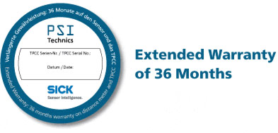 Extended Warranty of 36 Months for Your TPCC and Sick Sensor